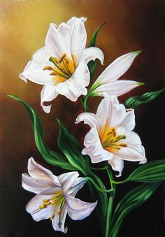 Stickerei 2018 New DIY Flowers Diamond Painting Cross Stitch Full Square/Round Diamonds Embroidery For Living Room Ho Neon Flowers, Diy Flowers, White Flowers, Beautiful Flowers, Rose Flowers, Arte Floral, Painting & Drawing, Watercolor Paintings, Fleurs Diy