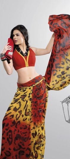 Classic animal prints include #cheetah print, #leopard print, zebra print, giraffe print and tiger print. Drawing attention anywhere, these cool, fun prints make wearers appear wild, sexy and flirty.Try them in saree.    Code:69810