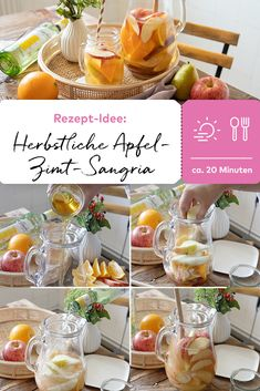 Sangria, In This Moment, Table Decorations, Apple Pie Cake, Cinnamon, Rezepte, Dinner Table Decorations, Center Pieces