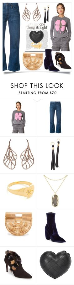 """""""Passion for Fashion"""" by mkrish ❤ liked on Polyvore featuring N°21, Levi's, Anyallerie, Pamela Love, Jacquie Aiche, Kendra Scott, Cult Gaia, Prada, Donald J Pliner and Serpui"""