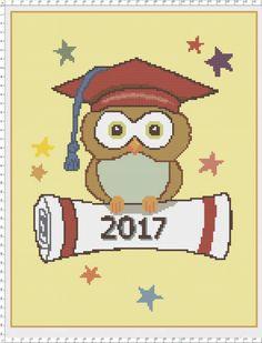 2017/ Owl Grad / DIY Present / Crochet / Knit / door TheWoodenChest