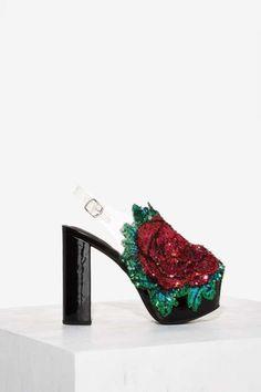 a44a5b2bcd6 Jeffrey Campbell Rosalia Leather Platform Heel High Platform Shoes
