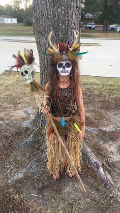 DIY Tribal Witch Doctor Halloween costume 2016 #witchdoctor #diyhalloween #halloween #diy
