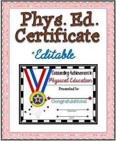physical education awards for students  Gym
