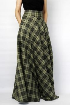 Maxi Skirt Outfits, Modest Outfits, Modest Fashion, Stylish Outfits, Dress Skirt, Fashion Outfits, Long Skirt Fashion, Long Maxi Skirts, Long Green Skirt