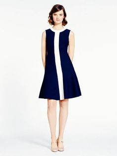 fluted scuba dress