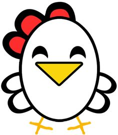 Step cartoon chickens finished Easiest Chicken or Rooster to Draw Ever   Great for Preschoolers & Young Kids