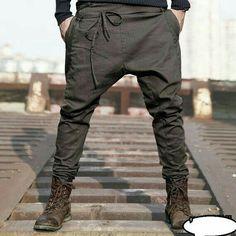 2014 England men's casual pants harem pants by LittleLilbienen, Fashion Moda, Men Fashion, Fashion Pants, Mode Hip Hop, Casual Pants, Men Casual, Cotton Harem Pants, Style Masculin, Men Trousers