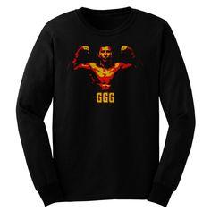 Black t shirt ggg golovkin gennady loong sleeve t shirts tank tops