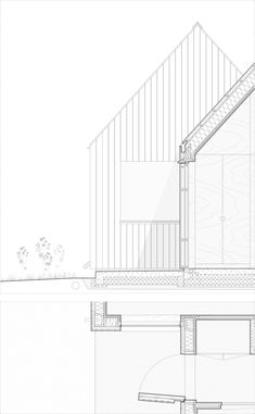 Gallery of Field House / Lookofsky Architecture - 24 Detail Architecture, Architecture Concept Drawings, School Architecture, Architecture Photo, Larch Cladding, House Cladding, Co Housing, Roof Detail, Architectural Section