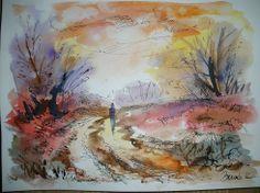 Konrad Biro Art - watercolor ink