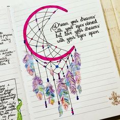 Thinking about creating something more BoHo for your bullet journal? These Dream Catcher Bullet Journal ideas will take it to the next level! Bullet Journal Ideas Pages, Bullet Journal Inspiration, Journal Pages, Bullet Journal Ideas Templates, Journal Quotes, My Journal, Journal Layout, Dream Journal, Poetry Journal