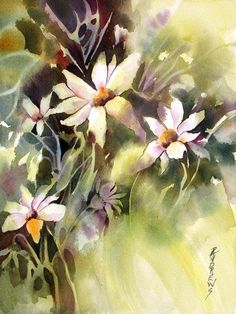 Flowers Painting - Moonglow by Rae Andrews