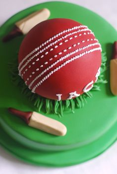 How To Make Cricket Ball Cake Pops