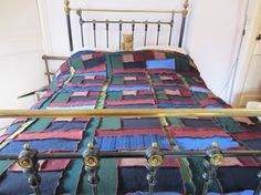 handmade blanket'bedspread/settee throw made from locally sourced recycled knitwear at home in rural Northumberland UK  £125