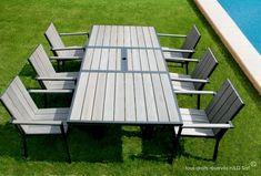 Ce #salon de jardin tendance comprenant une #table et quatre ou six ...