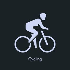 Sports Icon - Cycling by Sascha Elmers #icon #picto #pictogram #symbol #sports #athetics #human #bike #cycling