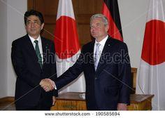 APRIL 30, 2014 - BERLIN: Japanese Prime Minister Shinzo Abe, German Federal President Joachim Gauck at a meeting in the Schloss Bellevue, Berlin.