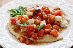 Grilled Chicken Bruschetta –a delicious, light summer dish!