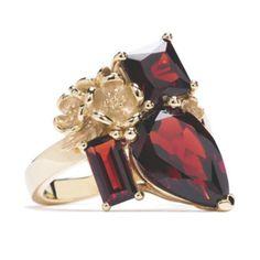 Jewelry to match Pantone's Marsala - Karen Walker, Worth & Douglas via Jeweller Magazine #pantonespring2015