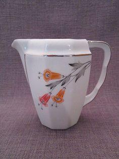 beau pot a lait ancien art-deco en porcelaine tcheque