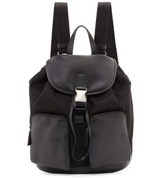 Prada Leather Backpack with Nylon Trim Black                       $235.00