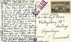 A Surprise Inside: New York City 1957 Post Card. Coolest stamp ever. www.bookdecor.com