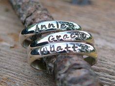 Stackable Rings Name Rings