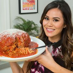 You read that right! This is a giant meatball stuffed with spaghetti! We've basically made it a reverse spaghetti and meatballs . . . and then supersized it. This dish is guaranteed to wow friends at your next dinner party. If your food-gasm Instagram posts haven't been on point lately, this will definitely help you step up your game. Oh yeah, this is just as delicious as it is trendy.      That's SO Jenn, Confessions of a Foodie    Spaghetti-Stuffed Giant Meatball    Ingredients For the…