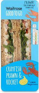 Buy Waitrose Good to Go Crayfish Prawn & Rocket Sandwich online in Waitrose at mySupermarket