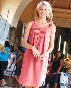 19e9d7786f3 Would love to have this for summer. From Garnet Hill. Linen Dresses