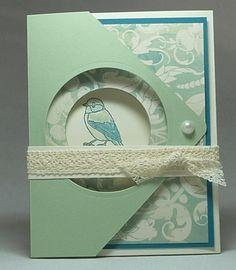 Backyard Basics Fancy Fold Card with Eastern Elegance Paper Sample #2 Closed