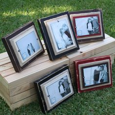 Burlap frames! Love these frames and others from this site!