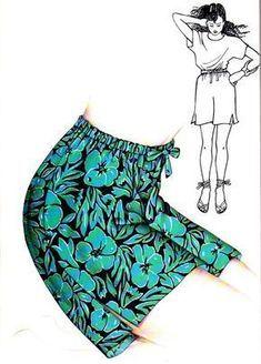 Tuto. Un short à coudre pour la plage, le jardin, les moments de détente