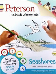 Seashores #ColoringBook: Peterson Field Guide! Color your own field guide and make nature come alive. Coloring your own field guide, from the delicate pink of a Roseate Spoonbill to the greenish brown of a Horseshoe Crab, is the most enjoyable way to learn about seashores. Each drawing is accompanied by a brief description that educates as it entertains. Place the new color #stickers next to the drawings for a visual reference while you work.