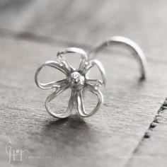 flower nose ring....