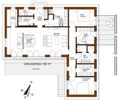 Individuell geplanter Winkelbungalow mit 136 m² Wohnfläche