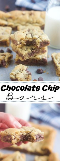 Chocolate Chip Bars - 5 Boys Baker
