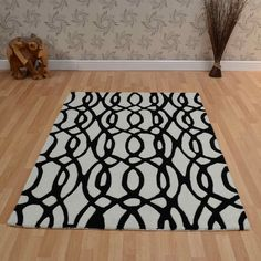 Matrix Wire Rugs In White And Black Is Handmade India With A Deep Soft