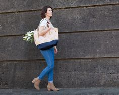 NEW Petal Pink & Gold Hobo Bag Convertible by frankieandcocopdx