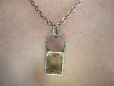 Silver and Rutilated Quartz Necklace by EmeraldPixie