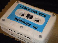 cassette cake | 80's Theme Cakes Boombox, Cassette, Rubik's Cube - Cake Decorating ...