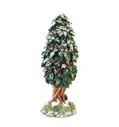 NIB - Holly Tree, Dept 56 - Dickens Village, 52630, Retired Christmas In The City, Christmas Fun, Dept 56 Dickens Village, Hawthorne Village, Alpine Village, Holly Tree, Department 56, Christmas Villages, Holiday Decor