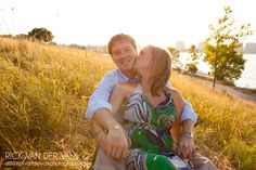 Engagement Shoot -Sunset, waterfront shoot in Barrie Ontario