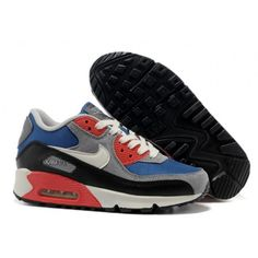super popular d99ba c38fe New Nike Air Max 90 Dark Royal Blue Sail Charcoal Black Womens Shoes