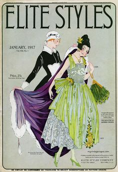 myvintagevogue:  Elite Styles January 1917