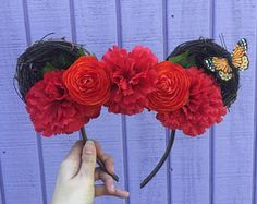 Woodland Floral Ears -    Edit Listing  - Etsy