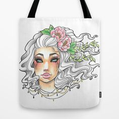 The White Princess Tote Bag by Little Lost Forest - $22.00