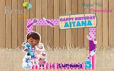 Doc McStuffins Photo Booth / Doc McStuffins Birthday / Backdrops / Birthday Photo Booths / Doc McStu 1st Birthday Favors, 3rd Birthday Parties, 4th Birthday, Birthday Photo Booths, Birthday Backdrop, Doc Mcstuffins Birthday Party, Skate Party, Photo Booth Backdrop, Ideas Para Fiestas