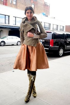 New York Street Style -perfect play on volume, amazing mix of texture.